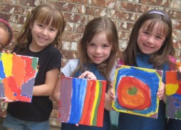 the rainbow girls making art!